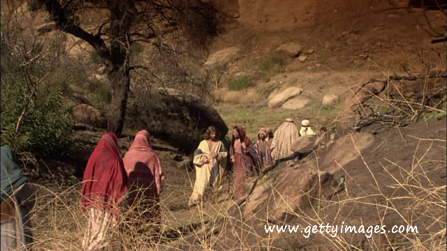Jesus Walks Mary Magdalene